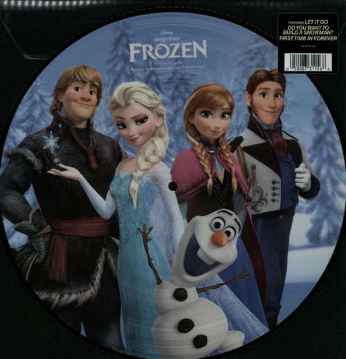Walt Disney Frozen - 180gm picture disc LP (vinyl picture disc album) UK W-DPDFR613353