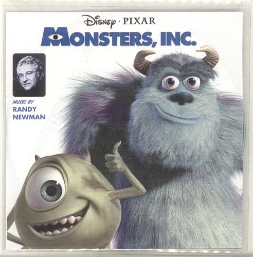 Walt Disney Monsters, Inc. CD-R acetate UK W-DCRMO693037
