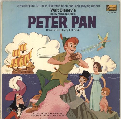 Walt Disney Peter Pan vinyl LP album (LP record) UK W-DLPPE693336
