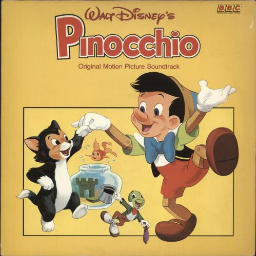 Walt Disney Pinocchio vinyl LP album (LP record) UK W-DLPPI552979
