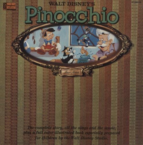 Walt Disney Pinocchio vinyl LP album (LP record) UK W-DLPPI757470