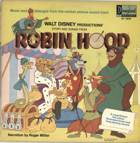 Walt Disney Robin Hood vinyl LP album (LP record) UK W-DLPRO476904