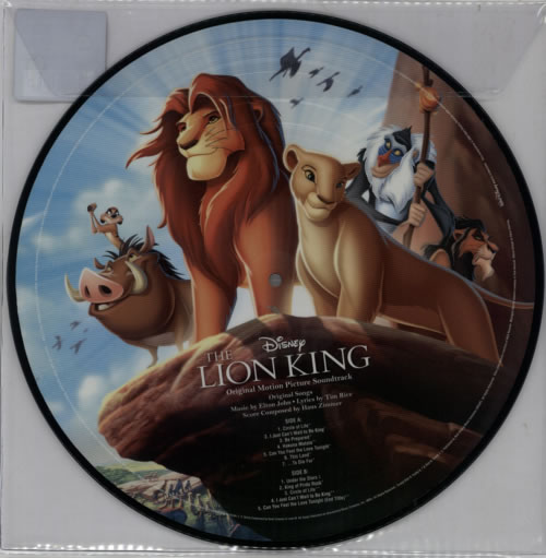 Walt Disney The Lion King - 180gm picture disc LP (vinyl picture disc album) UK W-DPDTH613346