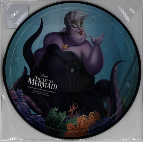 Walt Disney The Little Mermaid - 180gm picture disc LP (vinyl picture disc album) UK W-DPDTH613347