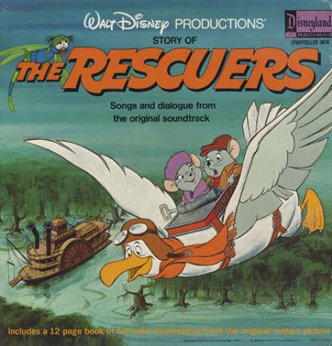 Walt Disney The Rescuers Sealed Us Vinyl Lp Album Lp