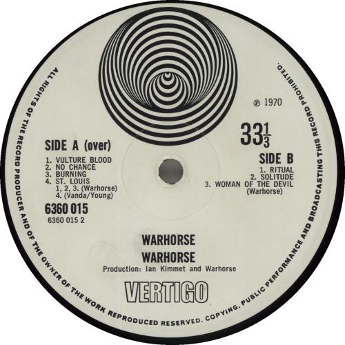 Warhorse Warhorse - 1st - VG vinyl LP album (LP record) UK WAHLPWA210244