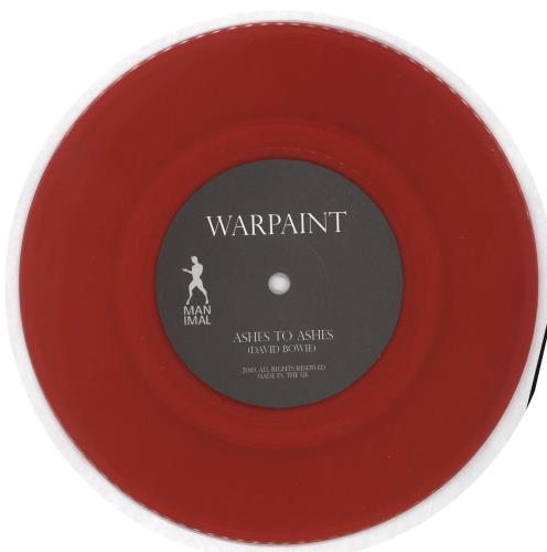 "Warpaint A Tribute To David Bowie - Red Vinyl 7"" vinyl single (7 inch record) UK WDR07AT660743"