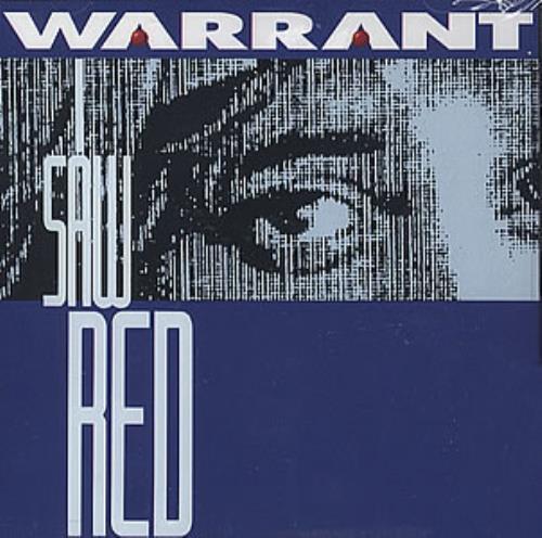 """Warrant I Saw Red CD single (CD5 / 5"""") US WNTC5IS352870"""