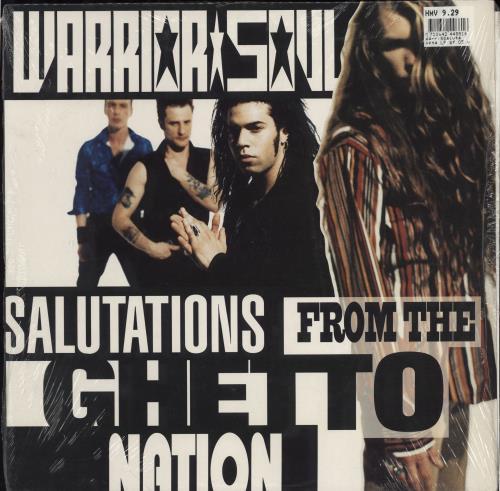 Warrior Soul Salutations From The Ghetto Nation - shrink vinyl LP album (LP record) German WSSLPSA777101