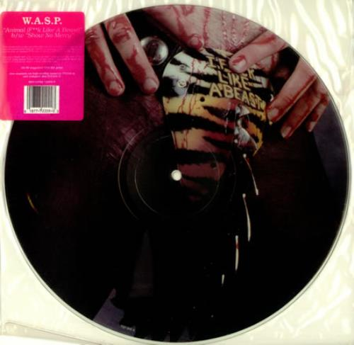 """WASP Animal (F**k Like A Beast) 12"""" vinyl picture disc 12inch picture disc record US WAS2PAN01281"""