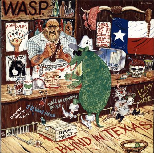 "WASP Blind In Texas 12"" vinyl single (12 inch record / Maxi-single) Japanese WAS12BL448416"