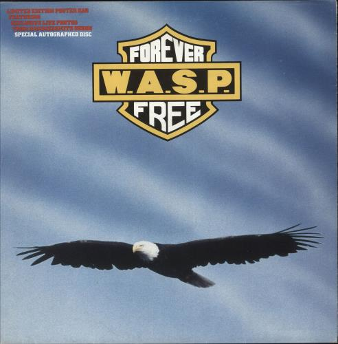 """WASP Forever Free 12"""" vinyl single (12 inch record / Maxi-single) UK WAS12FO01284"""