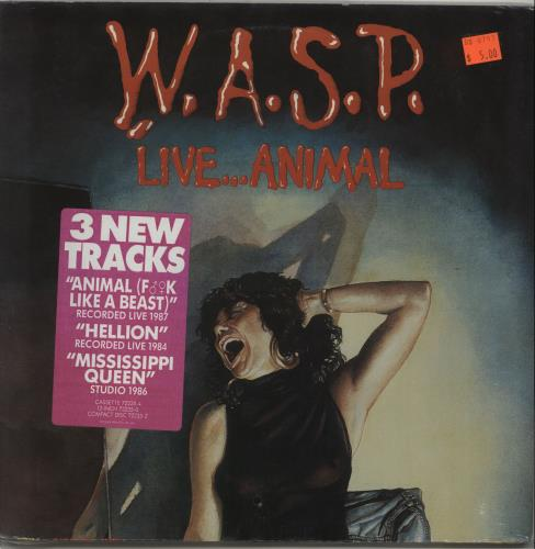 "WASP Live...Animal - Sealed 12"" vinyl single (12 inch record / Maxi-single) US WAS12LI514966"