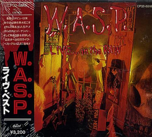 Wasp Live In The Raw Japanese Promo Cd Album Cdlp 358624