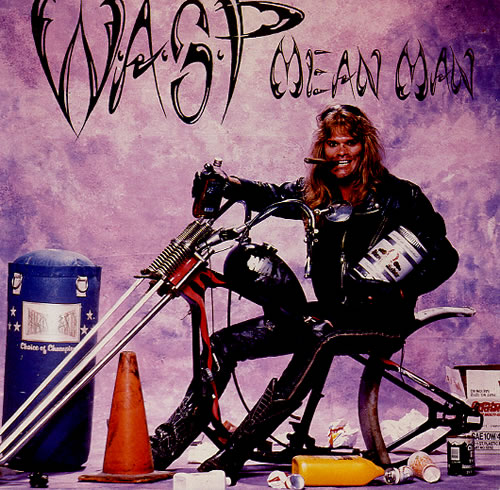 """WASP Mean Man 7"""" vinyl single (7 inch record) UK WAS07ME573071"""