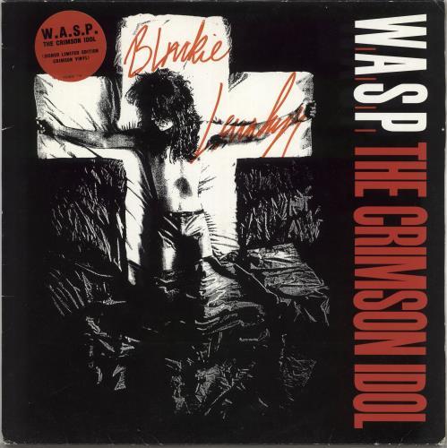 WASP The Crimson Idol - Red Vinyl - Autographed vinyl LP album (LP record) UK WASLPTH325582