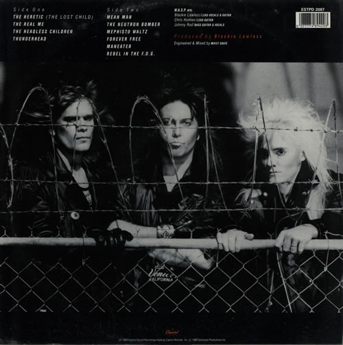 WASP The Headless Children picture disc LP (vinyl picture disc album) UK WASPDTH01244