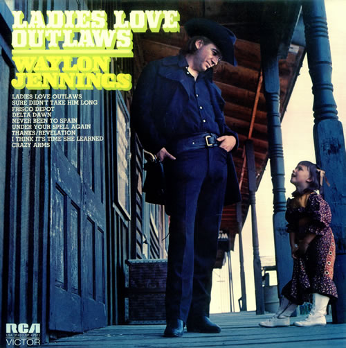 Waylon Jennings Ladies Love Outlaws vinyl LP album (LP record) UK WAJLPLA457418
