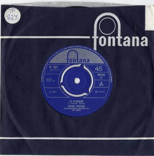 """Wayne Fontana & The Mindbenders 24 Sycamore 7"""" vinyl single (7 inch record) UK WYF07SY605798"""