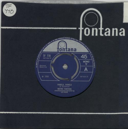 """Wayne Fontana & The Mindbenders Pamela, Pamela 7"""" vinyl single (7 inch record) UK WYF07PA605799"""