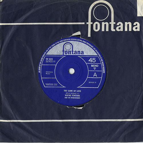 "Wayne Fontana & The Mindbenders The Game Of Love - Solid 7"" vinyl single (7 inch record) UK WYF07TH610788"