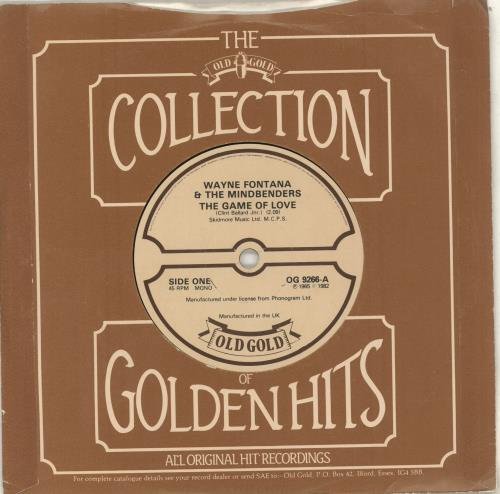 "Wayne Fontana & The Mindbenders The Game Of Love 7"" vinyl single (7 inch record) UK WYF07TH713492"