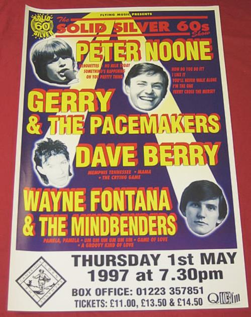 Wayne Fontana & The Mindbenders The Solid Silver 60s Show poster UK WYFPOTH354368