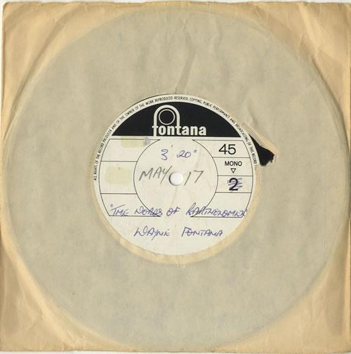 Wayne Fontana & The Mindbenders The Words Of Bartholomew acetate UK WYFATTH598958