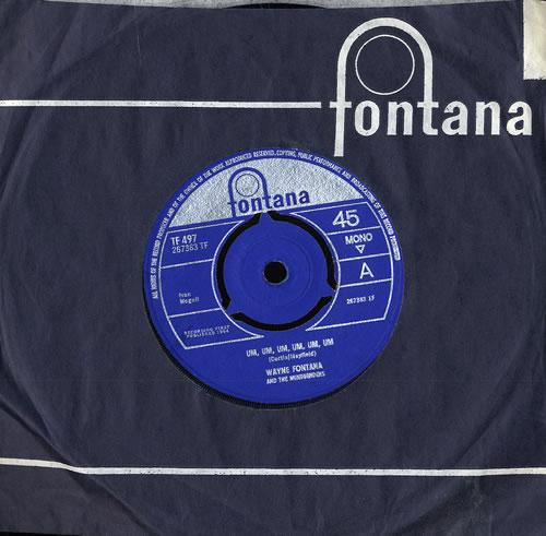 """Wayne Fontana & The Mindbenders Um, Um, Um, Um, Um, Um - 3 Prong 7"""" vinyl single (7 inch record) UK WYF07UM552469"""