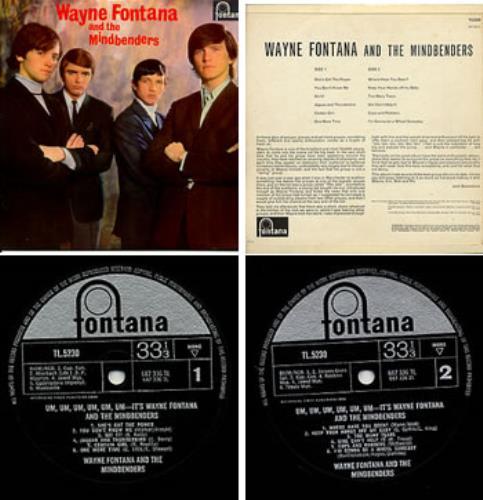 Wayne Fontana & The Mindbenders Wayne Fontana & The Mindbenders vinyl LP album (LP record) UK WYFLPWA308873