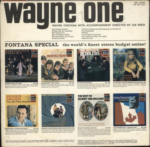 Wayne Fontana & The Mindbenders Wayne One vinyl LP album (LP record) UK WYFLPWA724689