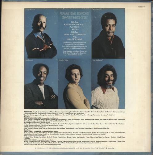 Weather Report Sweetnighter vinyl LP album (LP record) US WEALPSW734305