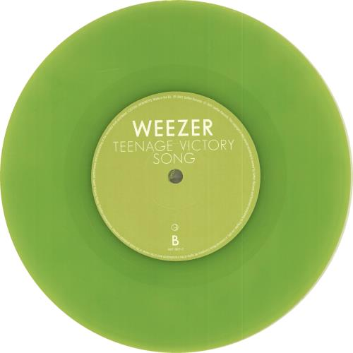 "Weezer Hashpipe - Lime Green Vinyl - 1st Sleeve 7"" vinyl single (7 inch record) UK WEE07HA190388"