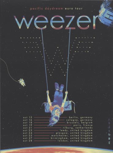 Weezer Pacific Daydream - European Tour poster UK WEEPOPA706122