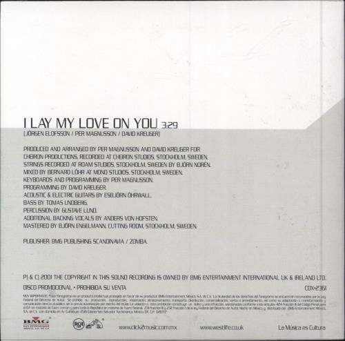 """Westlife I Lay My Love On You CD single (CD5 / 5"""") Mexican WLIC5IL179932"""