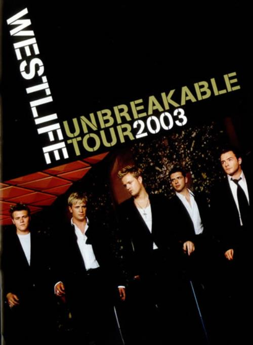Westlife Unbreakable Tour + Ticket Stub tour programme UK WLITRUN534498