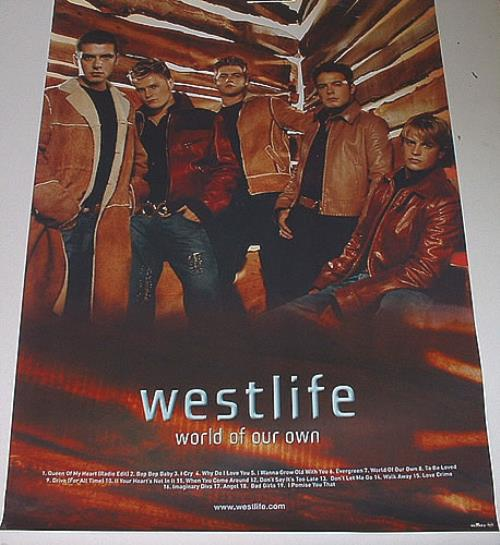 Westlife World Of Our Own poster UK WLIPOWO329523