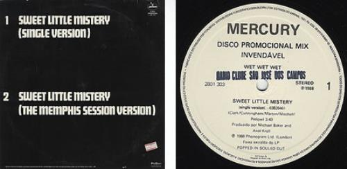 Wet Wet Wet Little Sweet Mistery vinyl LP album (LP record) Brazilian WETLPLI232686