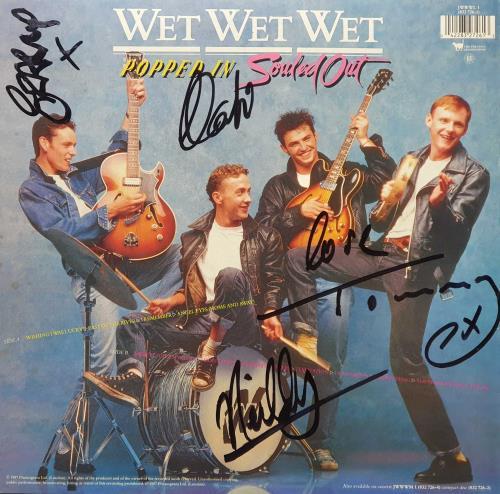 Wet Wet Wet Popped In Souled Out - Autographed vinyl LP album (LP record) UK WETLPPO731935