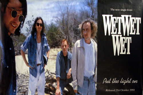Wet Wet Wet Put The Light On poster UK WETPOPU633957