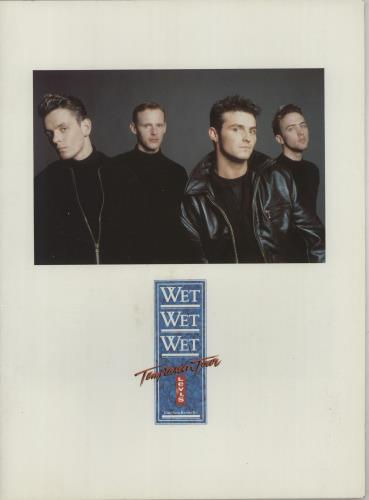 Wet Wet Wet Temptation Tour tour programme UK WETTRTE669658