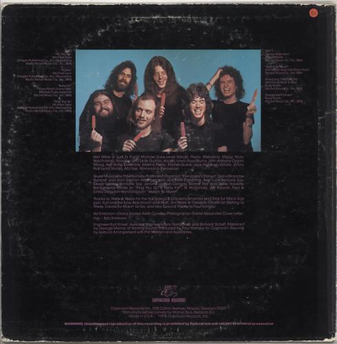 Wet Willie The Wetter The Better vinyl LP album (LP record) US WWILPTH734084