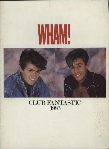 Wham Club Fantastic 1983 tour programme UK WHATRCL36201