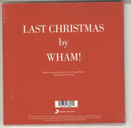 "Wham Last Christmas - White Vinyl - Sealed 7"" vinyl single (7 inch record) UK WHA07LA735428"