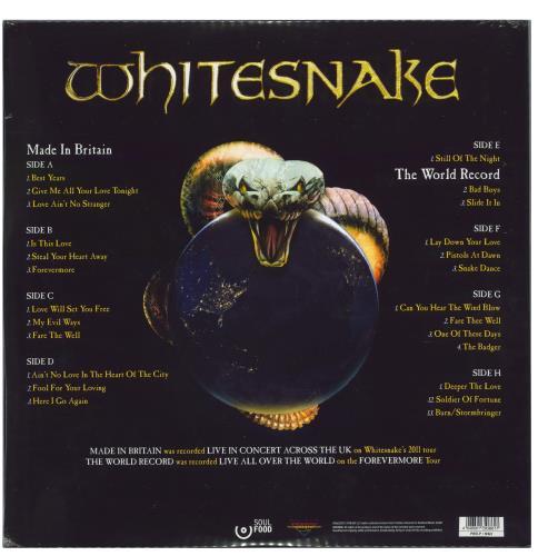 Whitesnake Made In Britain / The World Record 4-LP vinyl album set (4 records) UK WHI4LMA770117