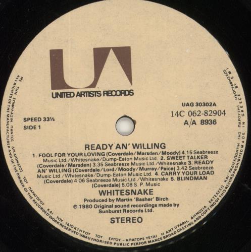 Whitesnake Saints & Sinners vinyl LP album (LP record) Greek WHILPSA724270
