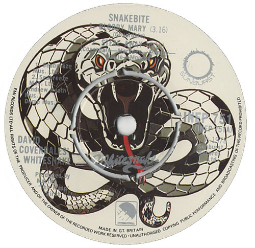 Whitesnake Snakebite Ep Black Vinyl Uk 7 Quot Vinyl Single