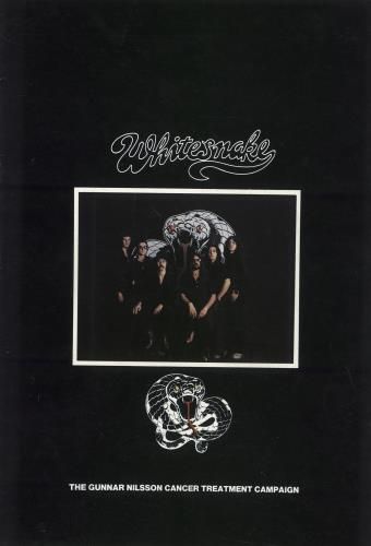 Whitesnake The Gunnar Nilsson Charity Concert tour programme UK WHITRTH717893