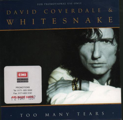 "Whitesnake Too Many Tears CD single (CD5 / 5"") UK WHIC5TO85980"