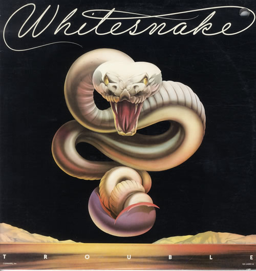 Whitesnake Trouble vinyl LP album (LP record) US WHILPTR550036